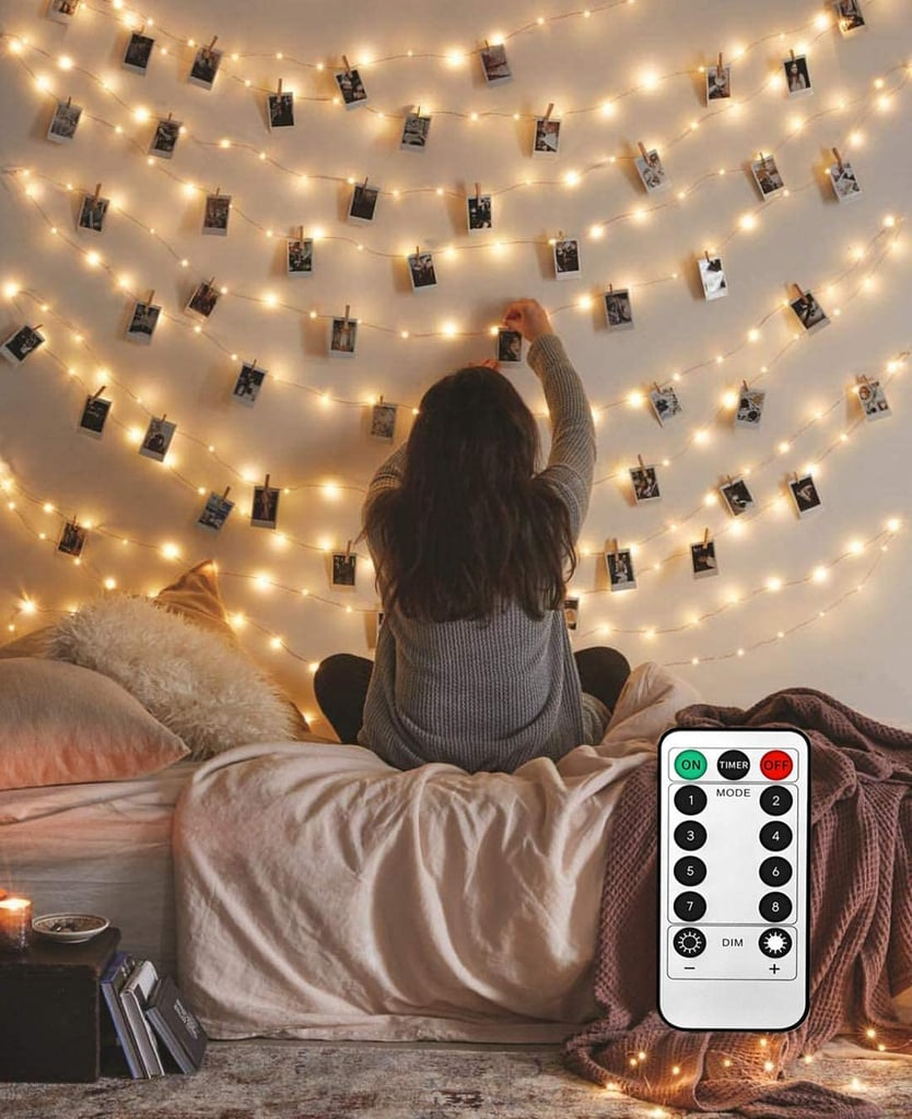 8 Modes 40 LED Photo Clip String Lights With Remote