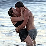 Mae Whitman and Matt Lauria filmed a racy scene for Parenthood on an LA beach in October.