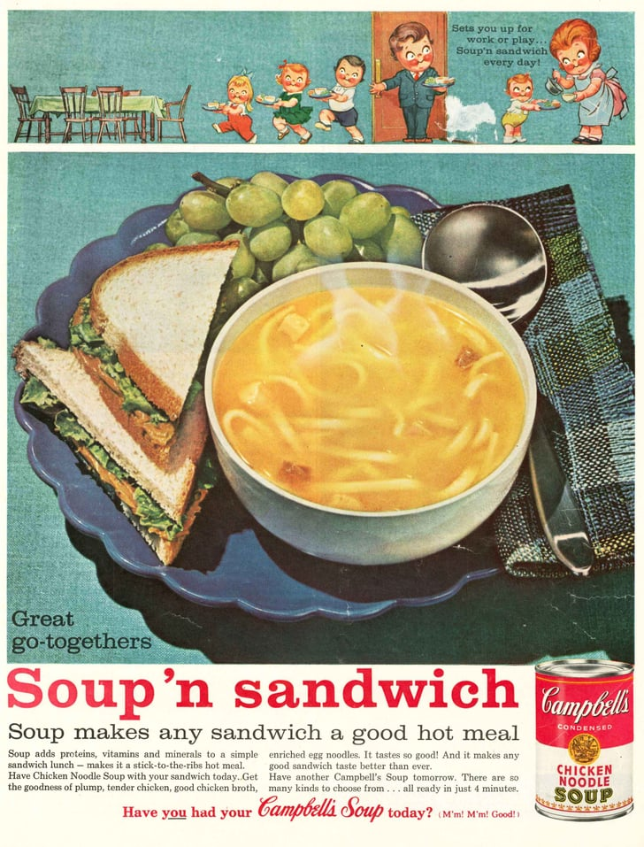 1961   campbell's chicken noodle soup vintage ads