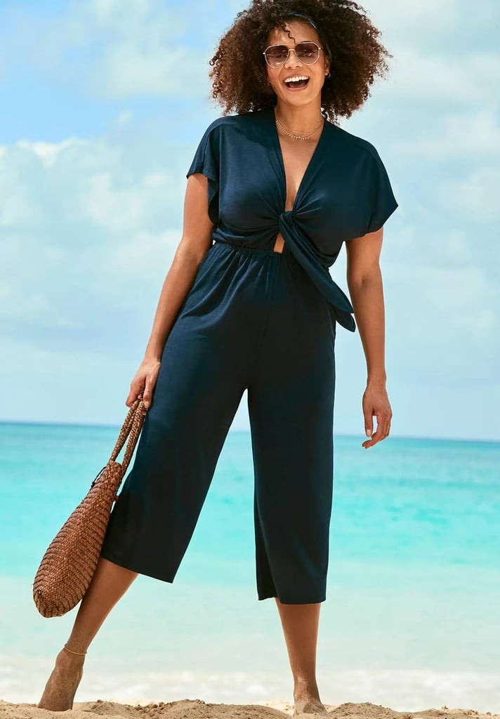Swimsuits For All Jessie Tie Front Cover Up Jumpsuit