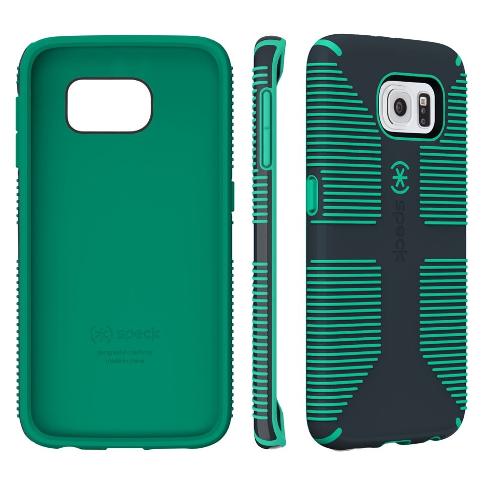 Speck CandyShell Grip in Charcoal Gray and Dragon Green ($35)