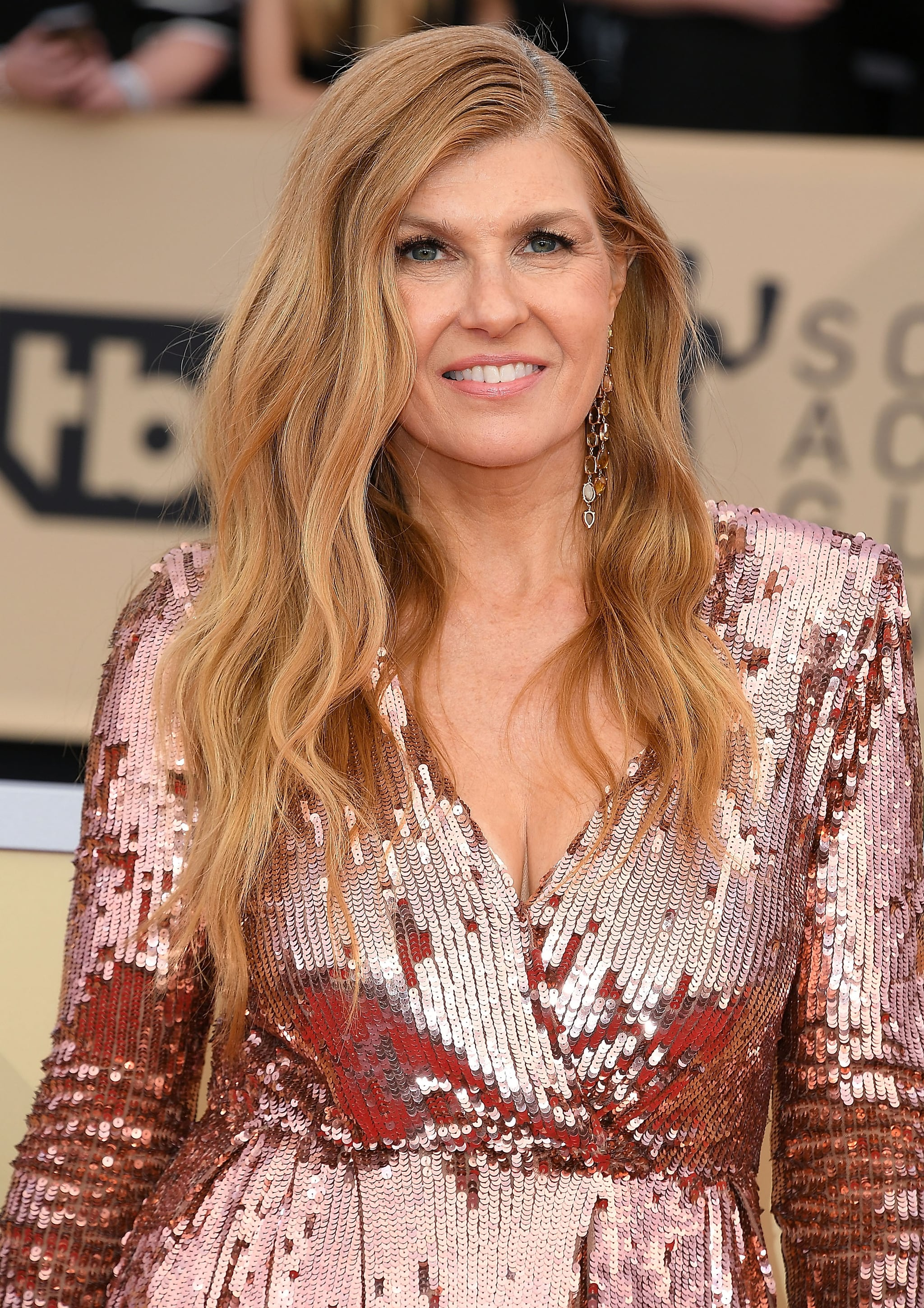 LOS ANGELES, CA - JANUARY 21:  Connie Britton arrives at the 24th Annual Screen Actors-Guild Awards at The Shrine Auditorium on January 21, 2018 in Los Angeles, California.  (Photo by Steve Granitz/WireImage)