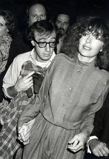 With then-boyfriend Woody Allen in 1977.