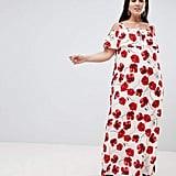 Lovedrobe Poppy Print Cold-Shoulder Maxi Dress