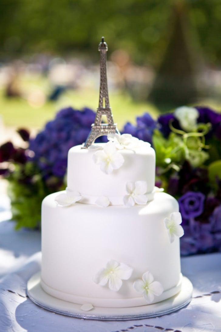 Eiffel Tower Cake Topper French Wedding Popsugar Love