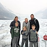 Brrrr! Here's a Shot From Their Trip Up to Athabasca Glacier in Canada