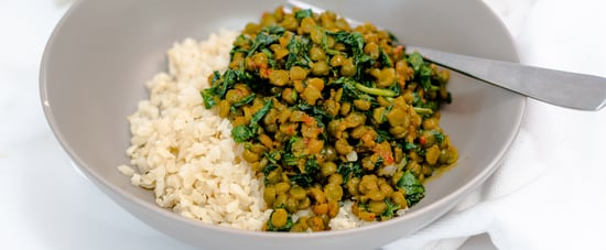 Sam Wood's Green Split Pea Dahl with Cauliflower Rice Recipe
