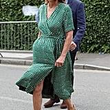 Carole Middleton's Green Dress at Wimbledon 2019