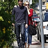 Kate Bosworth and Michael Polish walked to their car in LA.