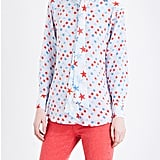 Style this Sandro Star-Print Silk Blouse ($295) with your favorite pair of jeans or culottes.