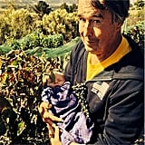 Little Axl Duhamel received an early introduction to wine making in the vineyard with his grandpa.  Source: Instagram user fergie