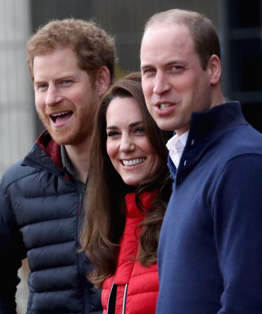 الأمير هاري و كيت ميدلتون و الأمير ويليام