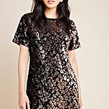 Ro & De Andi Sequined Tee Dress