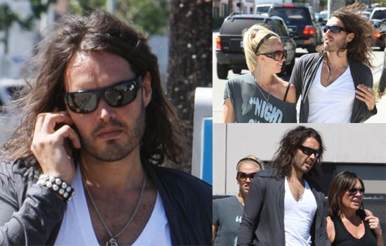 Russell Brand Does Some Shopping In Los Angeles