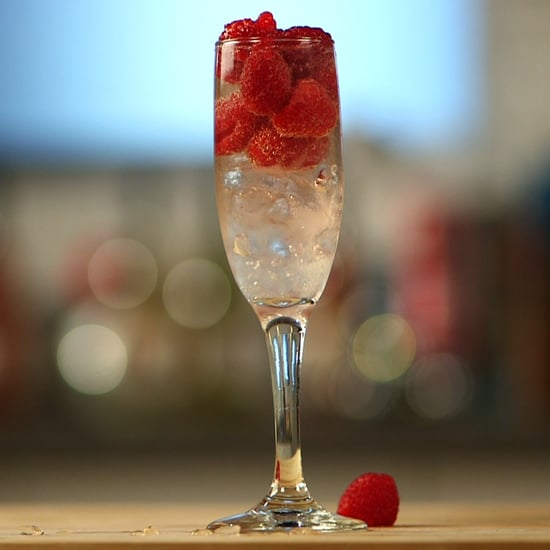 Lemon Raspberry Fizz Cocktail