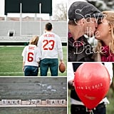 20 Ways to Save the Date With Your Engagement Shoot Whether you're just starting your wedding planning or you've been engaged for months, some of the first big to dos on your wedding checklist include taking your engagement photos and sending out save-the-dates. So why not combine the two? There are endless possibilities when it comes to incorporating your wedding date into your e-shoot, so to get you inspired here are 20 of the most creative ones out there!