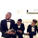 In February 2015, Swizz snapped a sweet picture with his sons, including newborn Genesis.