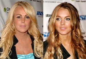 Photos of Lindsay Lohan and Mother Dina Lohan at Stand Up For A Cure Charity Event. Which Celebrity Beauty Look Do You Prefer?