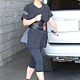 Kim Kardashian Wearing a Belted T-Shirt