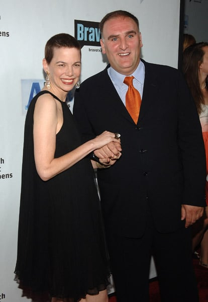 Food and Wine magazine's editor in chief Dana Corwin and Jose Andres