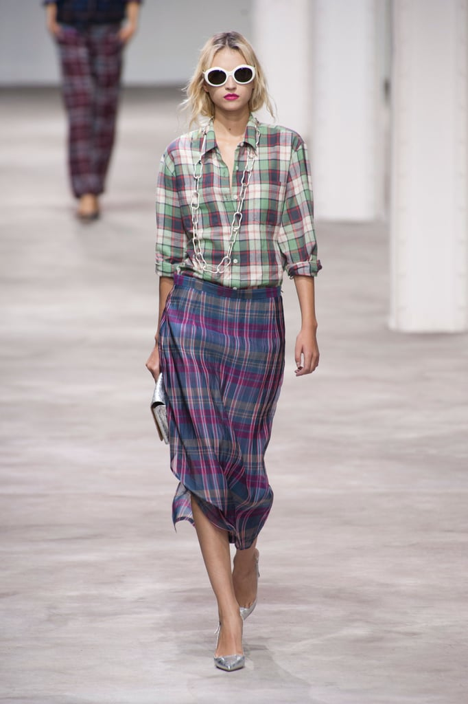 Dries van Noten Spring '13 was all about the plaid-on-plaid look that seems to be directly correlated to that '90s grunge-rock look.