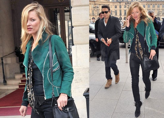 Photos of Possibly Engaged Kate Moss And Jamie Hince in London Before She Hosts a Party For Longchamp