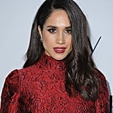 Meghan Markle With a Smoky Eye and Red Lip