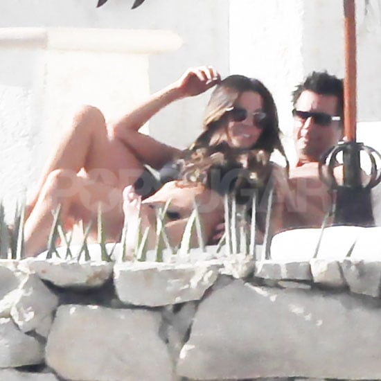 Kate Bekinsale and Len Wiseman snuggled in the sun in Mexico.