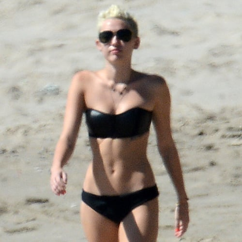 Miley Cyrus Does Yoga in a Bikini (Pictures)