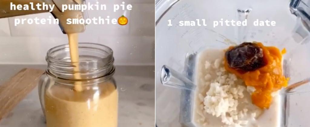 Healthy Pumpkin Pie Protein Smoothie Recipe on TikTok