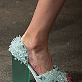 Christian Siriano's footwear was fit for an ice princess.