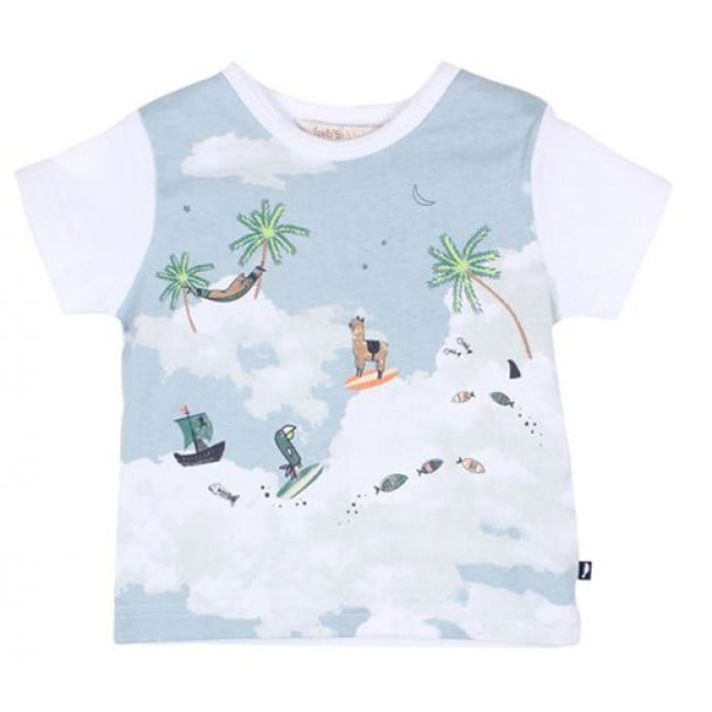 Fox & Finch Tropic Llamas Graphic Tee ($34.95)