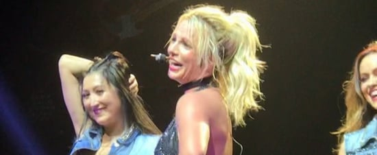 Fan Makes Britney Spears Laugh During Concert Video