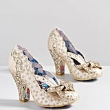 Patterns at Display Metallic Heel in Gold