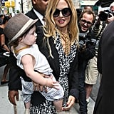 Rachel Zoe was all smiles as she carried baby Skyler Berman in NYC.