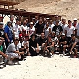 Brad Pitt and Angelina Jolie Visit With Soldiers in Egypt