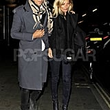 Kate Moss and Jamie Hince showed PDA in London.