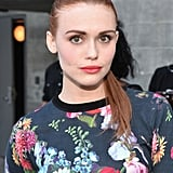 At the Young Hollywood Awards, actress Holland Roden was also decked out in floral prints. She paired her look with a bright lipstick to bring out the color in her outfit but skipped waves for a sleek, straight ponytail.