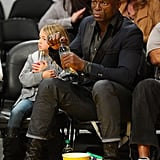 Seal and Leni Samuel watched the Lakers.