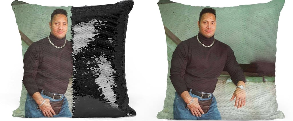 Dwayne Johnson Sequin Pillows