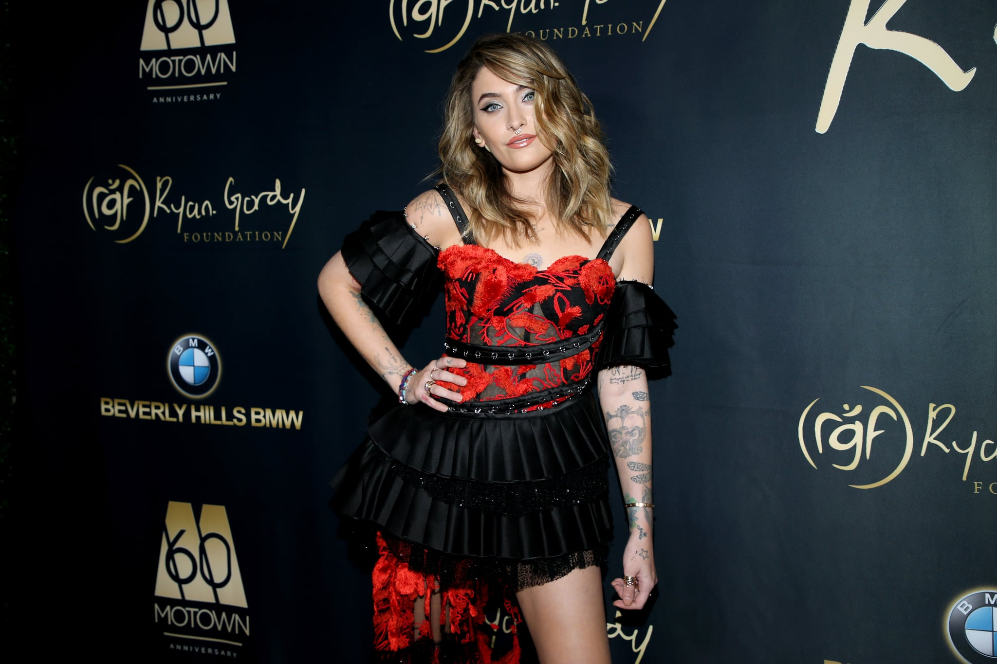 BEVERLY HILLS, CALIFORNIA - NOVEMBER 11:  Paris Jackson attends Ryan Gordy Foundation Celebrates 60 Years Of Mowtown at Waldorf Astoria Beverly Hills on November 11, 2019 in Beverly Hills, California. (Photo by Phillip Faraone/WireImage)