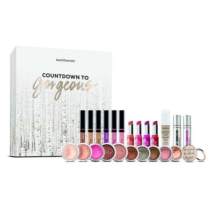 Bare Minerals (£75)  A new one this year from Bare Minerals, with products worth £135, it has 24 days of surprises including Original Mineral Veil Finishing Powder, Deluxe Marvelous Moxie Lipgloss in six shades, and Deluxe Pop of Passion Lip Oil-Balm in four shades.