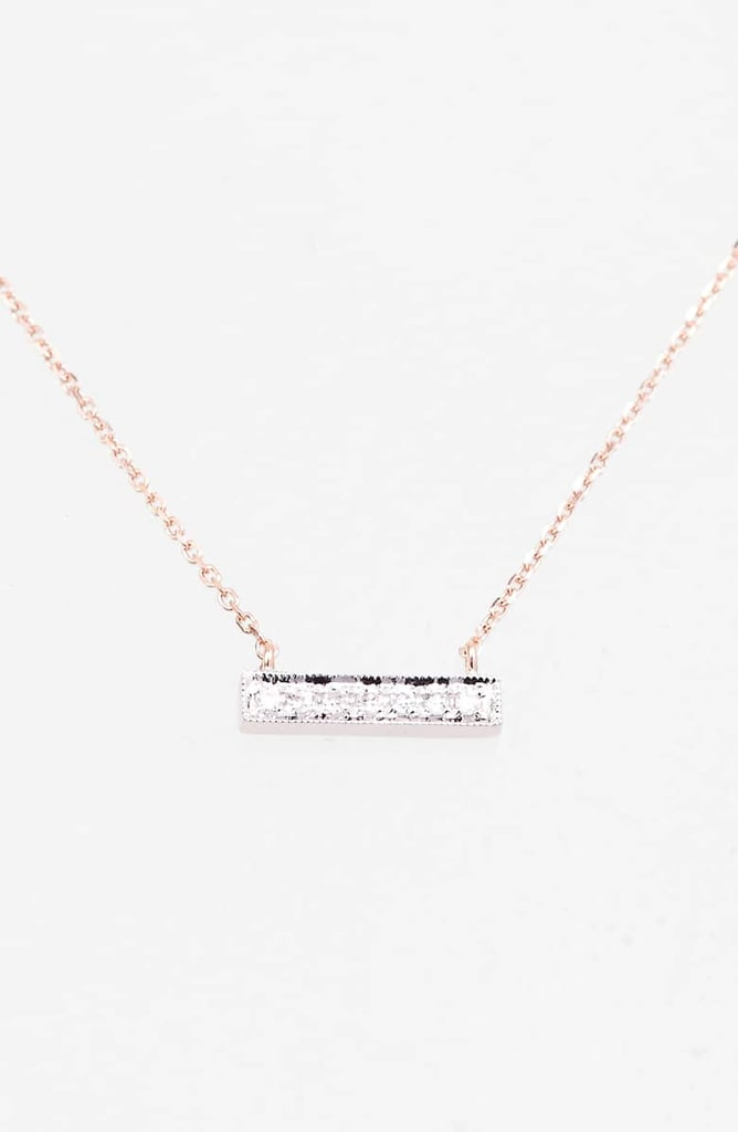 Dana Rebecca Designs Sylvie Rose Diamond Bar Pendant