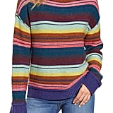 Caslon Mock Neck Stripe Sweater