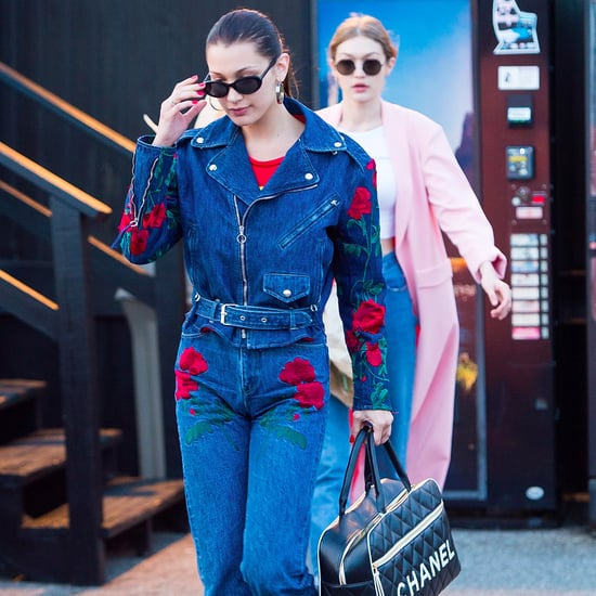 Bella Hadid Wearing Denim on Denim