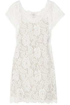 Demure, white lace in a cut that works for everyday with a denim jacket and flats — or cocktails, with nude pumps and a shimmery clutch.   Imitation Kiki Lace Tunic ($280)