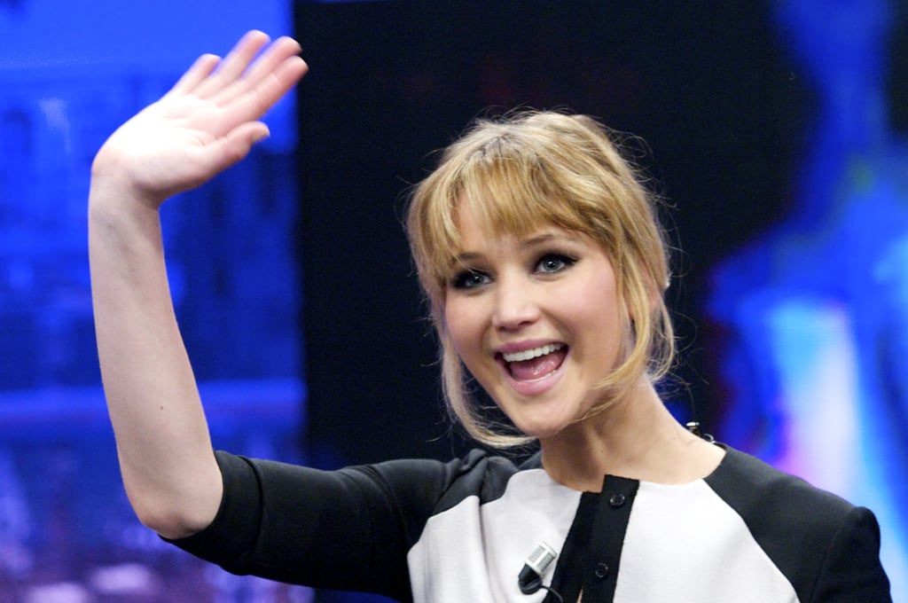 Jennifer Lawrence visited Madrid to appear on the El Hormiguero show.