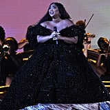 Lizzo Performing at the Grammys in a Christian Siriano Dress