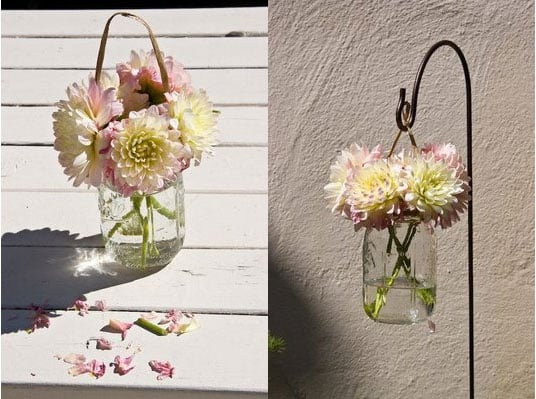 Cool Idea: Hanging Wedding Flowers
