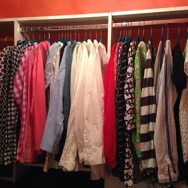 One Instagram user posted a photo showing her newly tidied closet, with all the shirts facing the same direction with space between the hangers.
